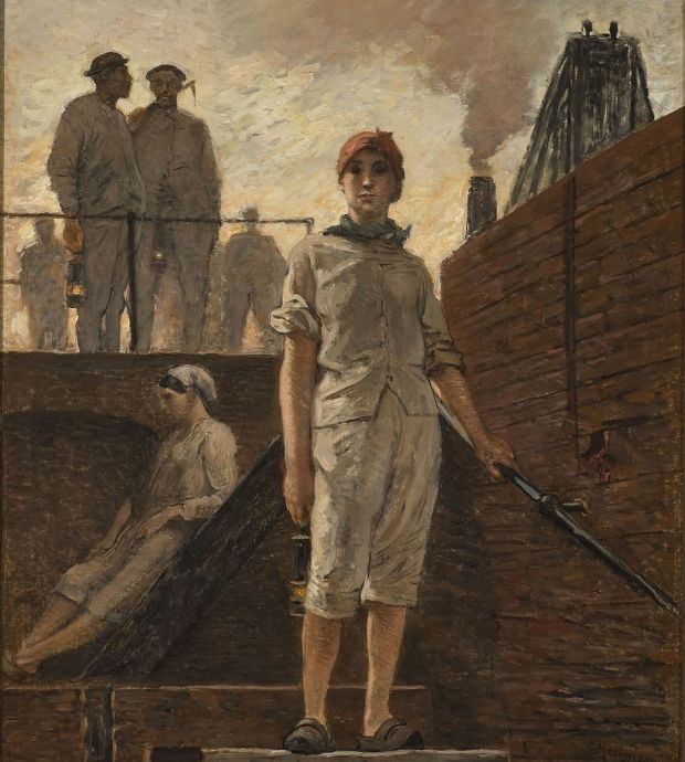 Constantin Meunier - Coal Drawer Going Down to the Pit, 1890