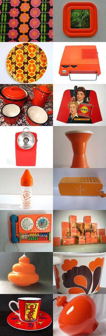 Orange passion vintage by KikideLimoges on Etsy