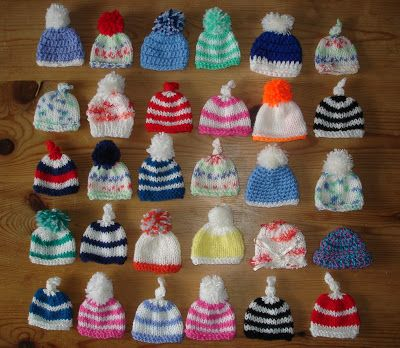 This is a fabulous fundraising campaign - making hats for smoothies to support Age UK - free patterns for the hats are included in the post on Marianna's page: marianna's lazy daisy days: AGE UK ~ Innocent Smoothie Hats