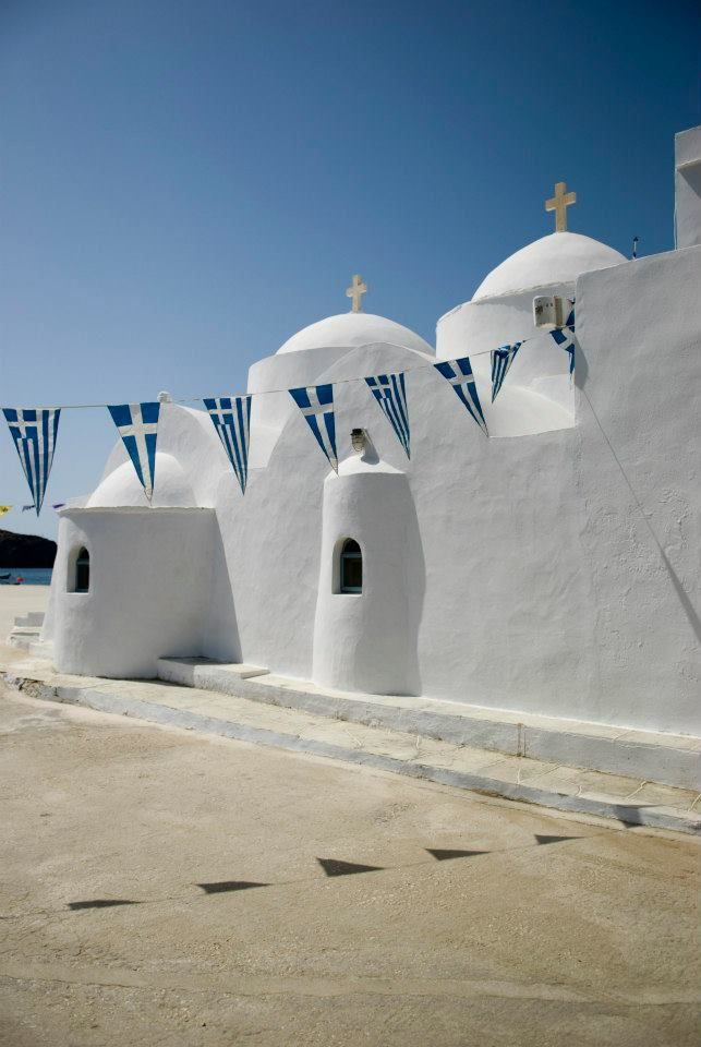 Church by the  sea Sifnos Island Greece