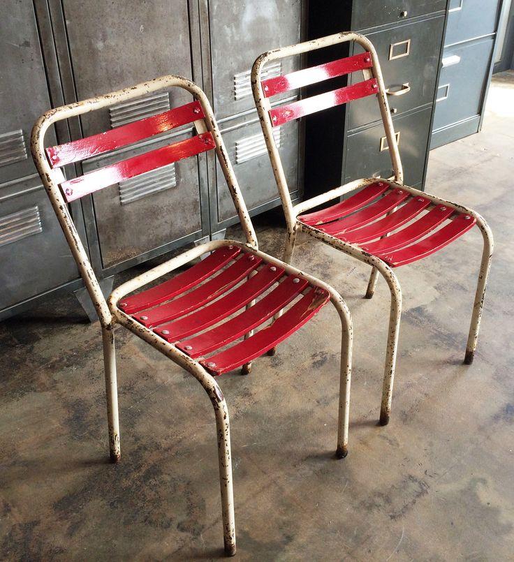 Vintage TOLIX Bistro Chairs / Metal U0026 Wood Industrielle Attitude 4763 Eagle  Rock Blvd. Los
