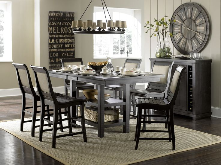 Progressive Furniture Willow Counter Height 7 Piece Dining Set | Wayfair