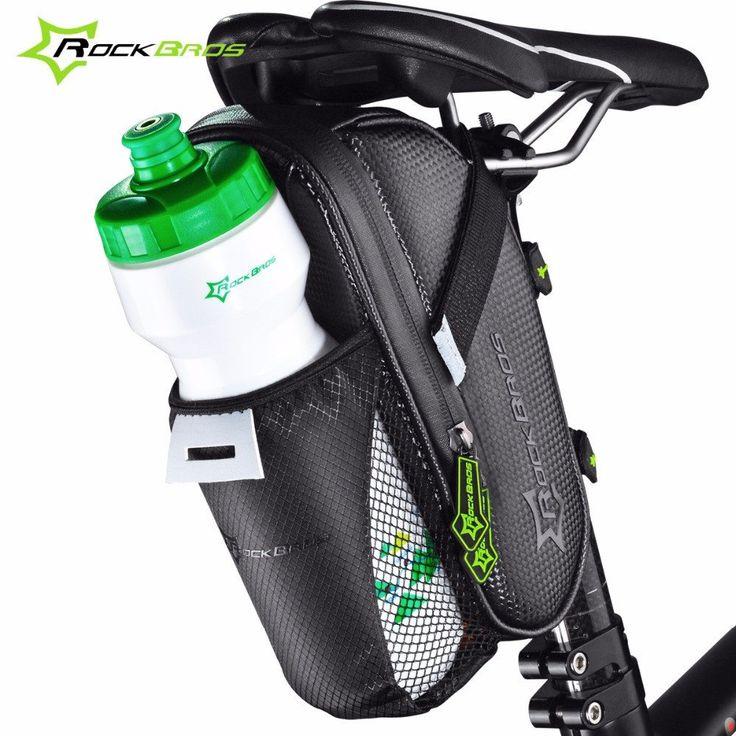 ROCKBROS Bicycle Saddle Bag With Water Bottle Pocket Waterproof