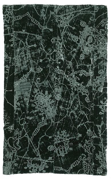 Panel Date: mid-15th century Culture: Italian Medium: silk; cotton Dimensions: 31 7/8 x 19 1/4 in. (80.9 x 48.9cm) Classification: Textiles-Velvets