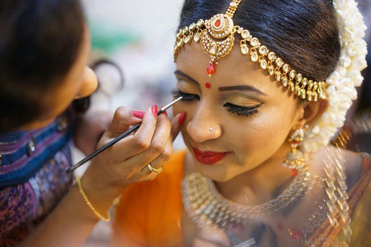 Dressing up my gorgeous bride Vytheege.   #tamilbride #tamilwedding #bridals #southindianbride #southindianjewellery #jewellery #southindian #bridals