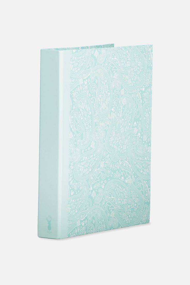A4 Ring Binder, BLUE LACE