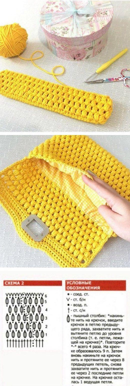 504 besten Crochet pattern bag Bilder auf Pinterest   Anleitungen ...