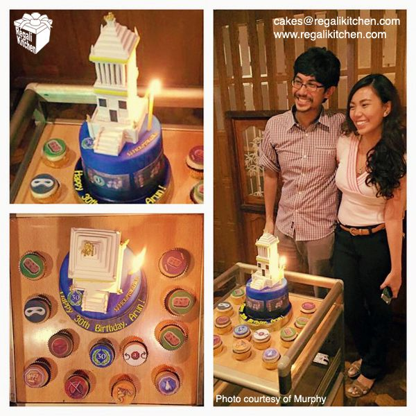7 Wonders Board Game Cake and Cupcakes | by The Regali Kitchen
