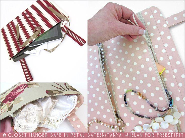 FreeSpirit-Rowan 10&10 Series: Closet Hanger Safe in Tanya Whelan/Petal Sateen | Sew4Home