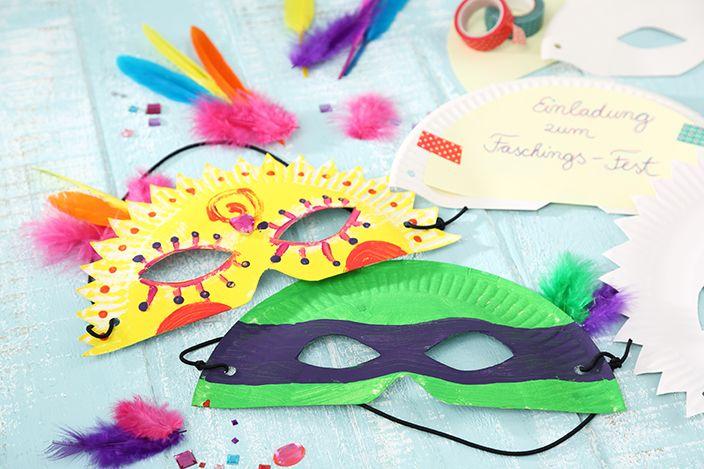 Karneval Party, Karneval Einladung, Karnevalseinladung, Fasching basteln, Faschingsmaske basteln, Kinderfasching Ideen