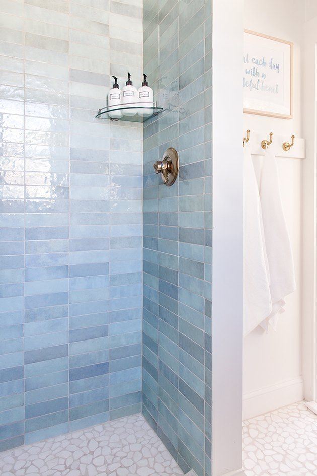 9 Blue Shower Tile Ideas That Will Make Heads Turn Hunker In 2021 Blue Bathroom Tile Blue Shower Tile Bathrooms Remodel