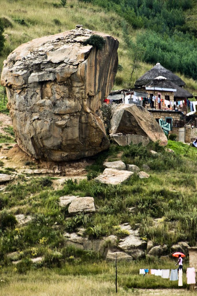 Living Between Boulders . Lesotho