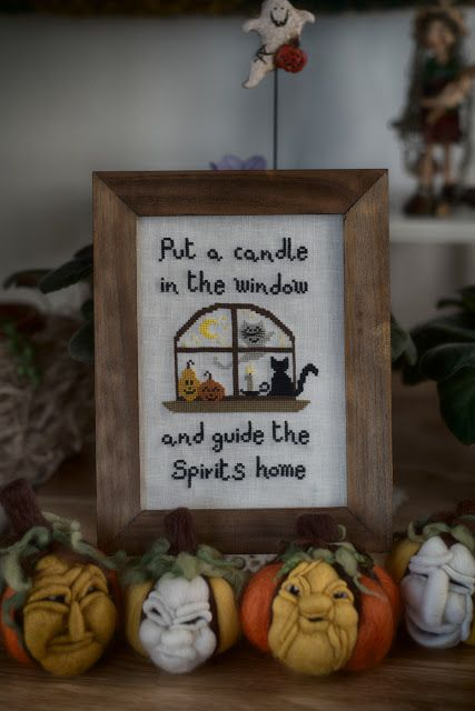 Halloween cross stitch pattern by TheWitchyStitchyRabbit  https://www.etsy.com/it/listing/526836038/a-candle-in-the-window-by?ref=shop_home_active_2