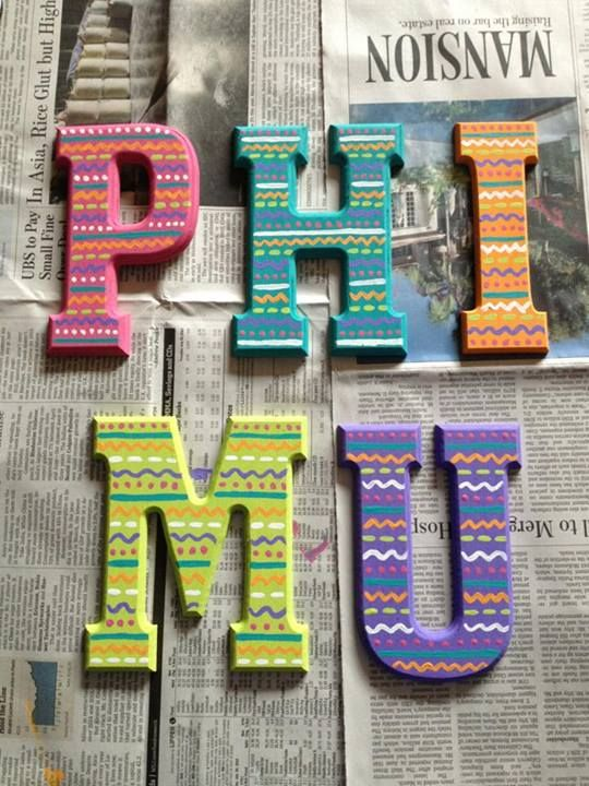 Tribal letters = adorable