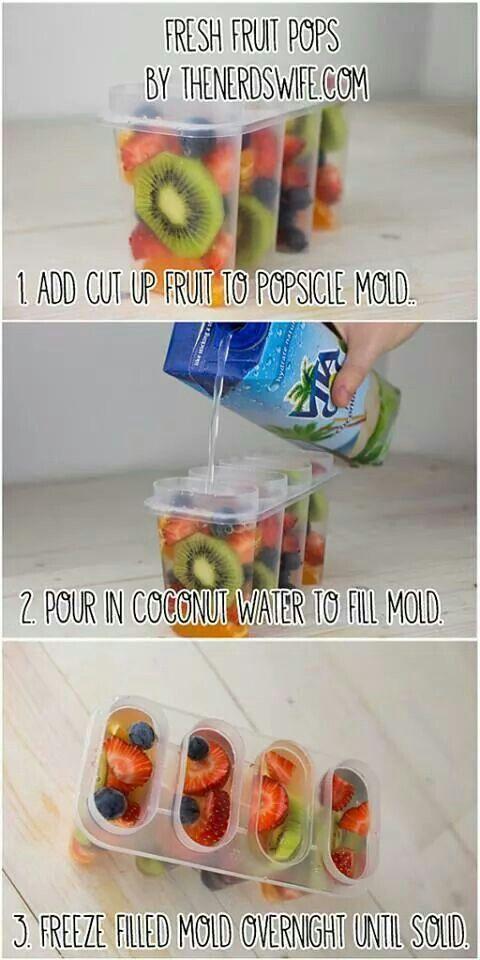 Fresh Fruit & Coconut Popsicle