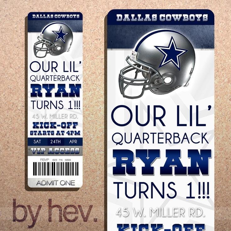 9 best Dallas Cowboy Baby Bday Party images – Dallas Cowboys Party Invitations