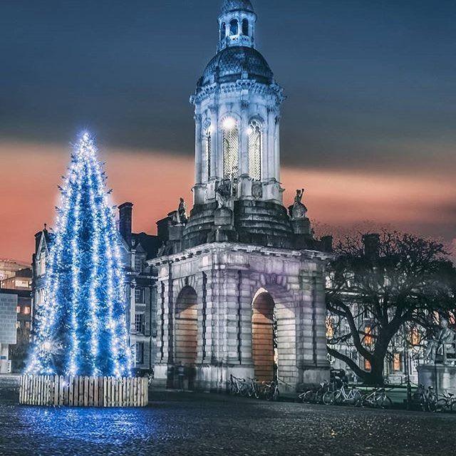 Christmas time in Trinity College by @varjakpaul  It's a wonderful refuge from the glitz and intoxication of the commercial side of Christmas outside its walls.  A simple lit tree suffices here in surroundings that speak for themselves. Neither sunset nor sunrise the orange glow comes from the thousands of sodium lamps throughout the city. . . . #vancityhype #getoutside #discoverglobe #beautifuldestinations #socialrealtor #socialmedia #yvrre #realtor in #yaletown #vancity…