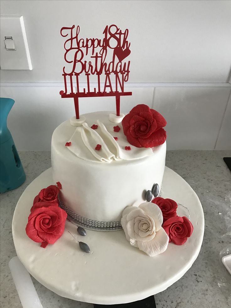 18th birthday red and white themed