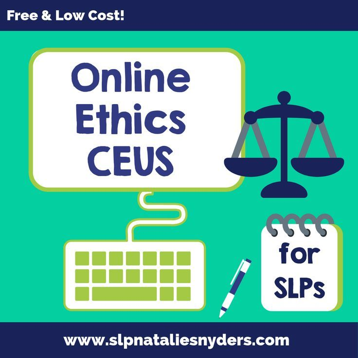 Online ethics CEUs options for SLPs free and low cost
