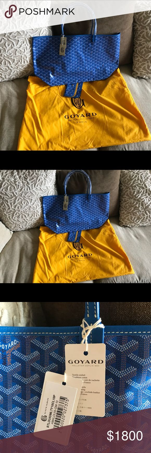 Goyard st. louis gm large shoppin bag, blue Bought from Barneys New York, color is Lt Blue. Original price is $1795 pre tax. Brand new with tags and dust bag. Goyard Bags Totes