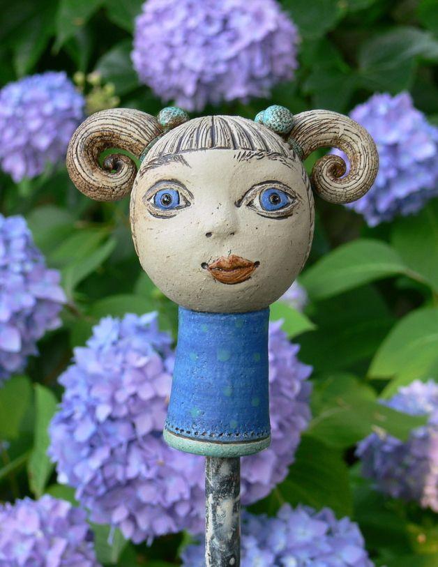 Gartenfiguren - Gartenkeramik Zopflieschen »Paula« - ein Designerstück von Brigitte_Peglow bei DaWanda