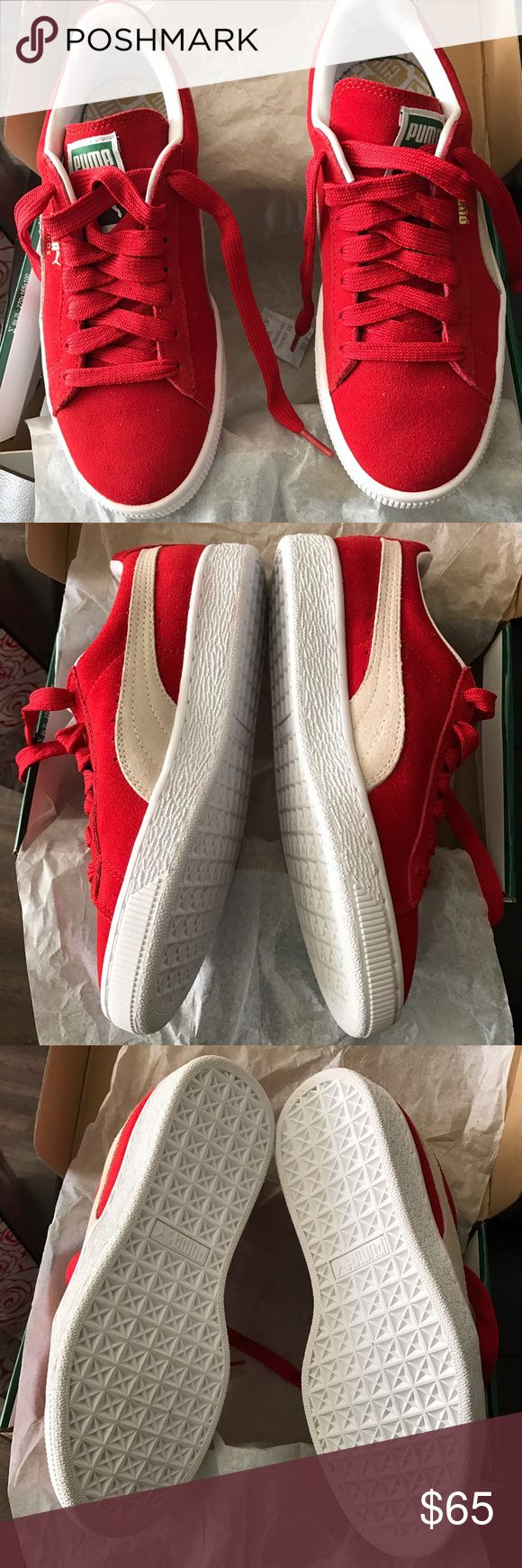🛑2 Hour Sale🛑PUMA SHOES PUMA SHOES...Brand new in box. Red suede sz. 6, item exactly as pictured. No trades, thank you. Puma Shoes Sneakers