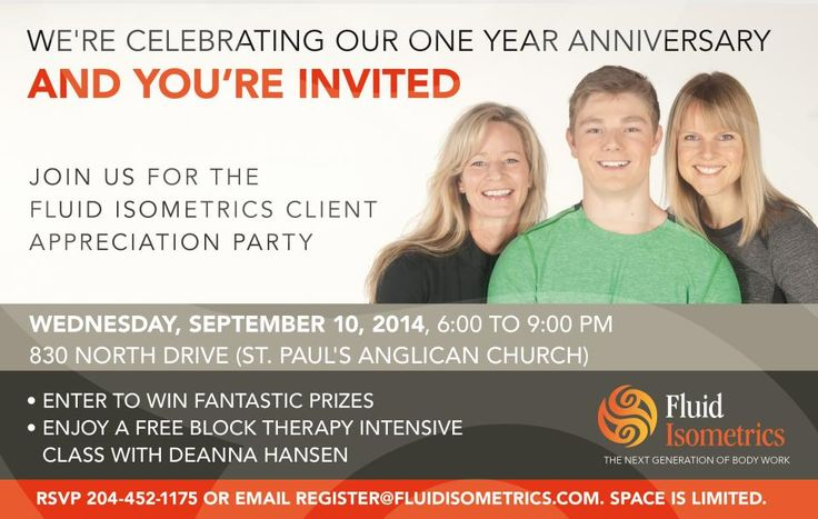 Fluid Isometrics is celebrating the one year anniversary of the launch of Block Therapy with a FREE Client Appreciation Party and the MEDIA IS INVITED