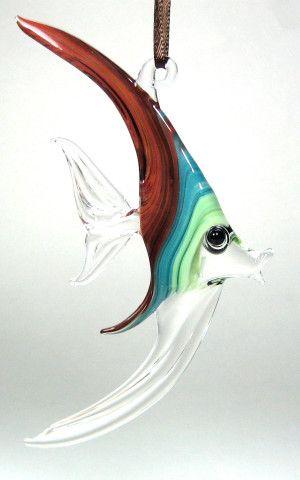 Sealife Glass Fish Suncatcher  I'd like one of these.
