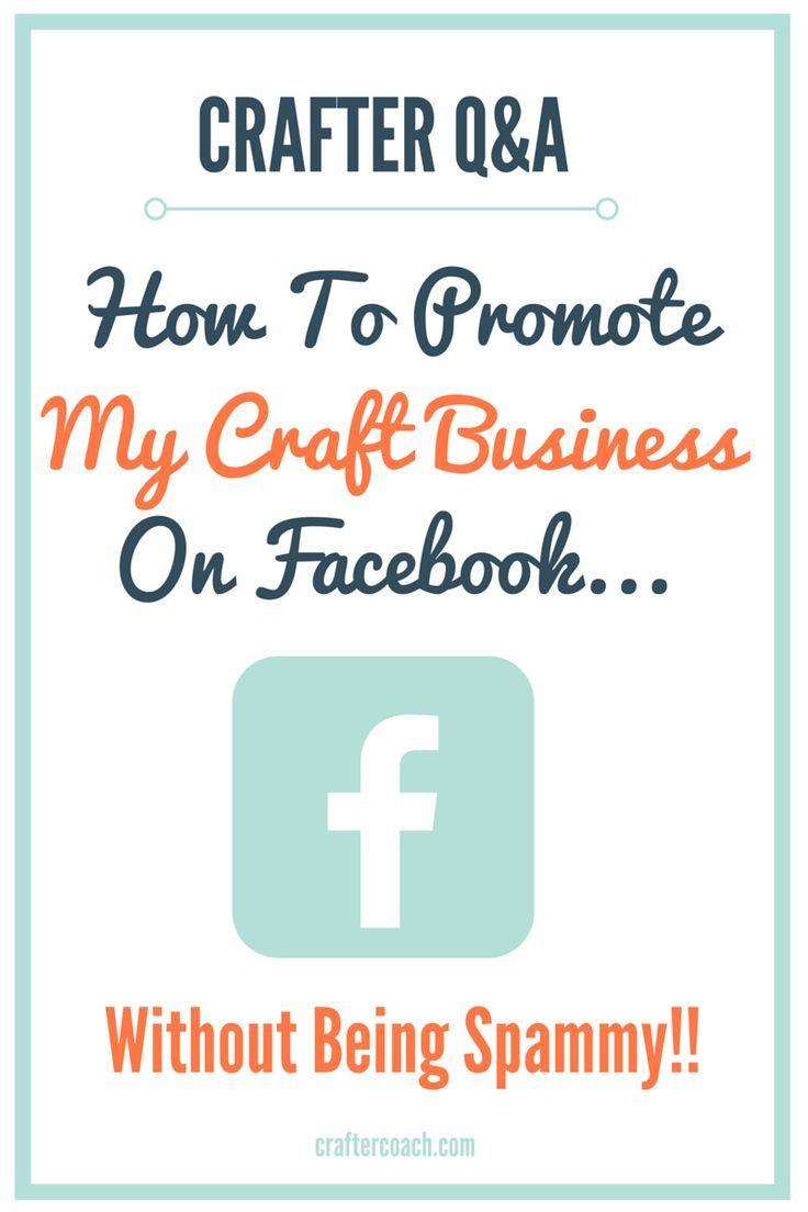 Ever wondered how to promote my craft business on Facebook without being a total spammer? It's totally possible...
