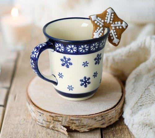 Classic ceramic mug  Christmas pattern boleslawiec