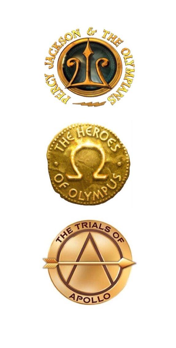 Percy Jackson, Heroes of Olympus, & Trials of Apollo Logos