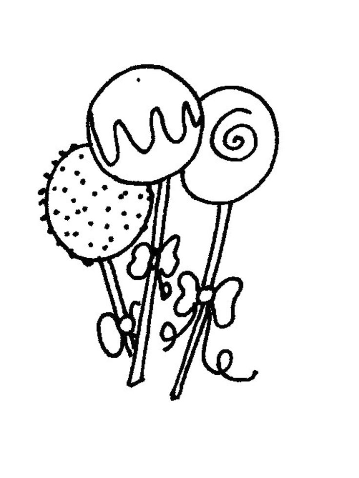cake pop coloring pages - photo#1