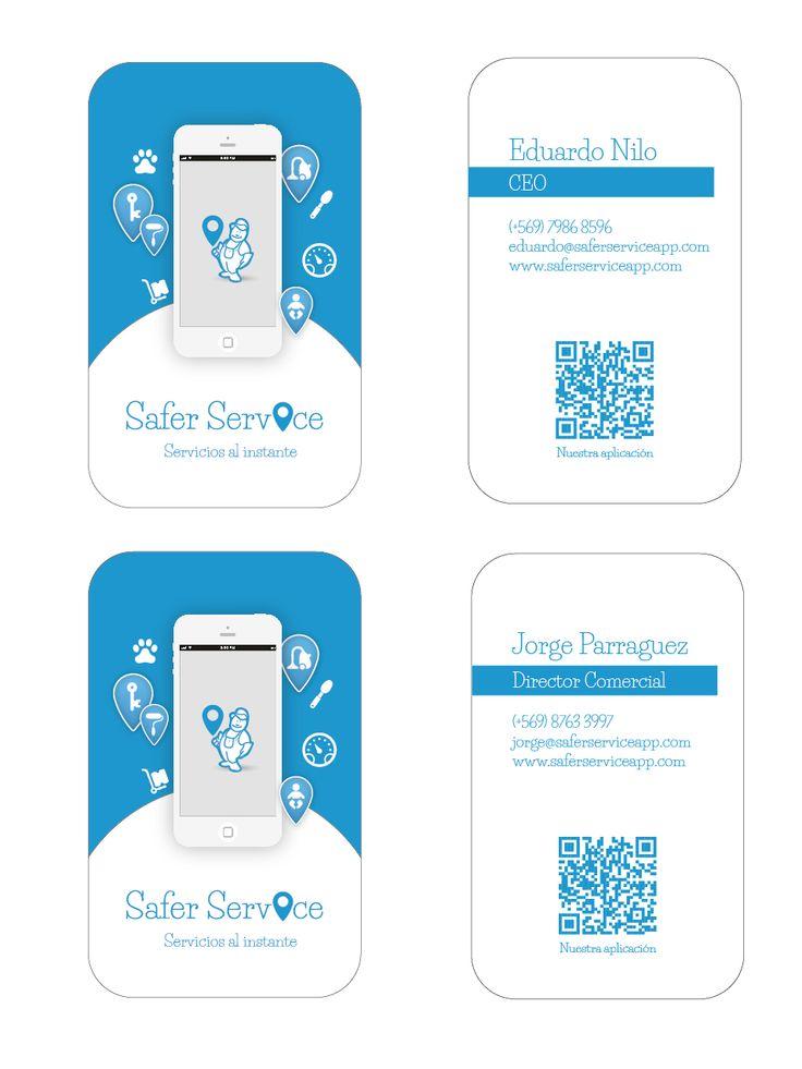 Tarjetas equipo Safer Service app x Kata Melgarejo