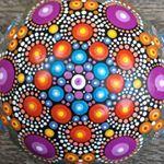 "39 Likes, 4 Comments - Liona Hotta Stones (@lionahottastones) on Instagram: ""Working on a new design. #inprocess  #mandala #stoneart #paintedrock #paintedpebbles #mandalaart…"""