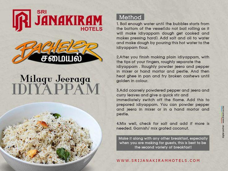 Milagu Jeera Iddiyappam - Method