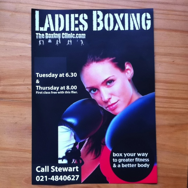Ladies Boxing at the boxing clinic