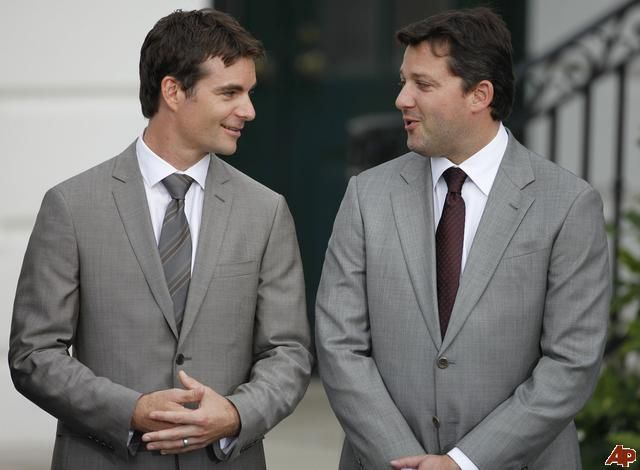 They do clean up well. 2009 White House Visit Jeff Gordon & Tony Stewart