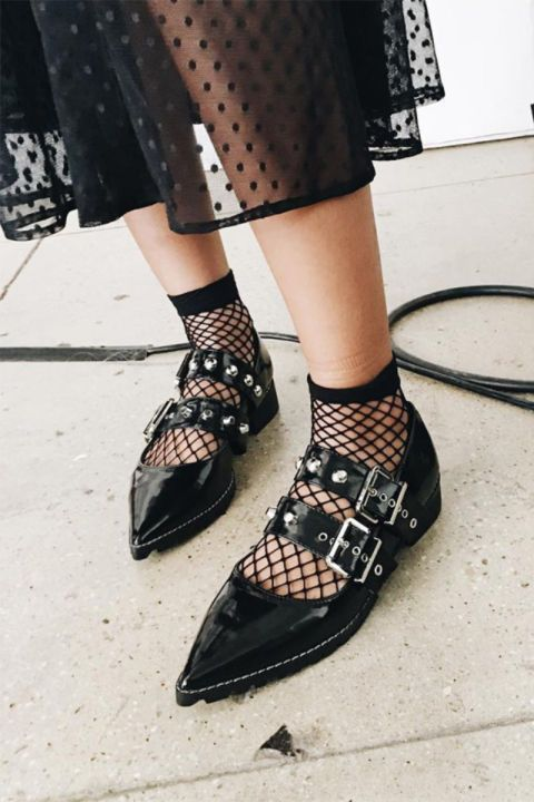From fishnet socks to shirts, how to wear the fishnet fashion trend in 2017: