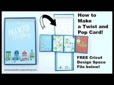 "How to Make a Twist and Pop Card - 4""x12"" card base scored at 6""- other measurements and picture for scoring at 8:07(8x3.5""), 8:11(10x3.5"") of utube video. also need 2 card liners(DSP)3.75x5.75 and 4 decorated liners for pop out(2.25x3.25)"