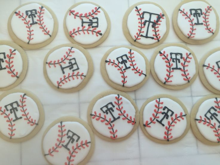 Texas Tech baseball cookies for my oldest son's team.
