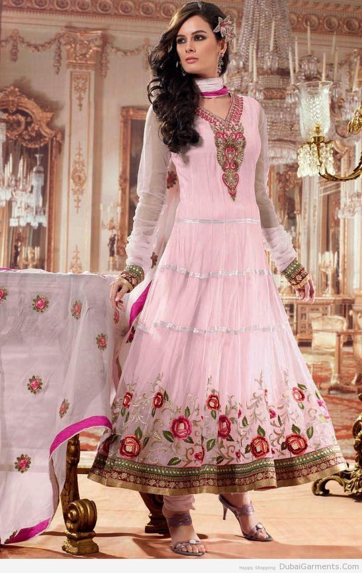 Stylish white dress wedding umbrella frocks churidar designs - Anarkali Umbrella Frock With Churidar Pajama Pakistani Wedding Dresseswedding