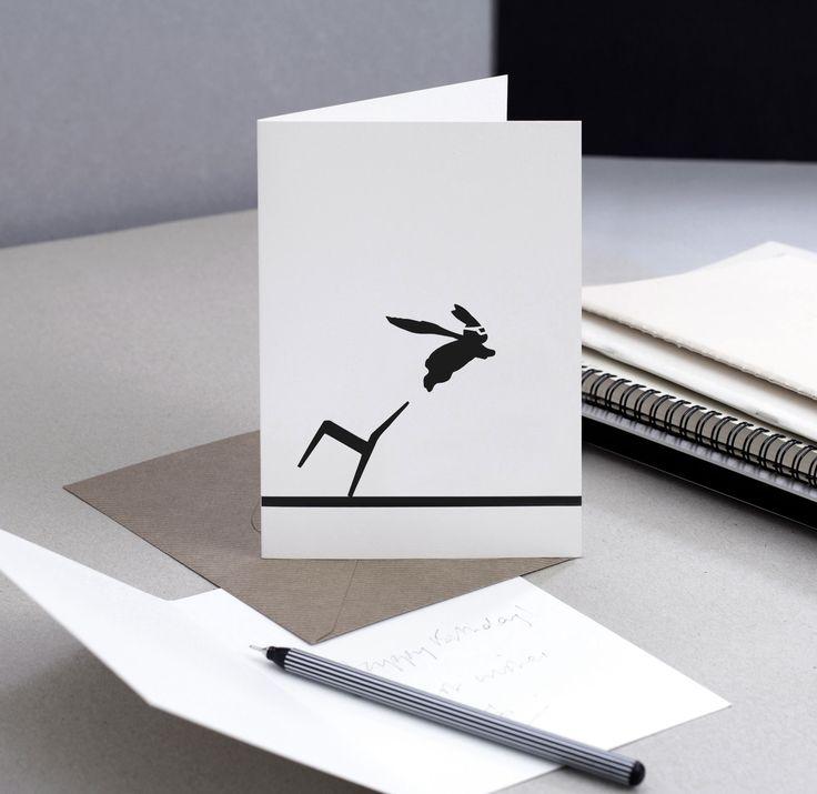 Superhero Rabbit Card