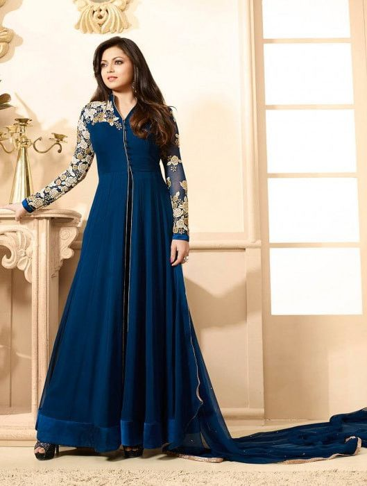 Blue Georgette Salwar Kameez #indianweddingdresses