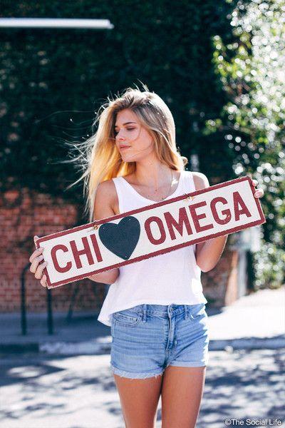 Chi Omega Vintage Sign