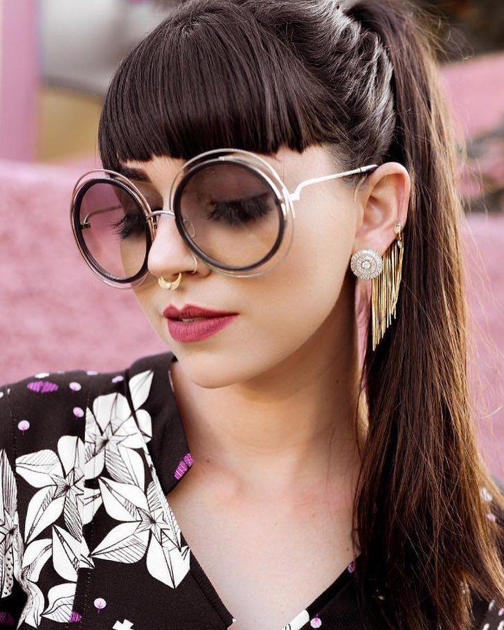 Redondo, Oversized   Retro ❤ É ou não é a combinação perfeita ! Óculos Chloé  Carlina 120 S    www.envyotica.com.br     crisales    … d2d3ee4b3c