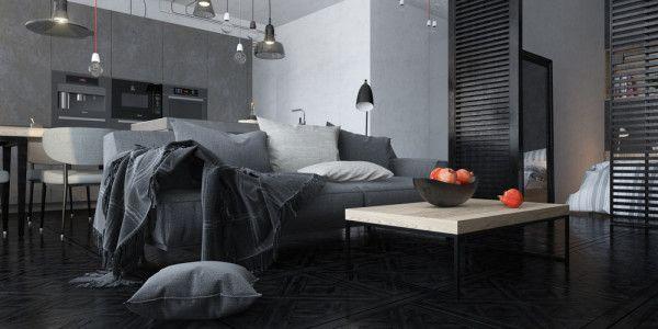 Tamni interijeri - učinkovito koristite sivu u dizajnu interijera | Uređenje doma