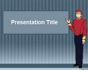 FreeBellboy PowerPoint Template is a free template for hotel managers who need a PPT template design for their hotel presentations