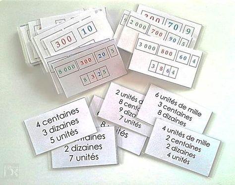 Ateliers Numération de type Montessori                                                                                                                                                     Plus
