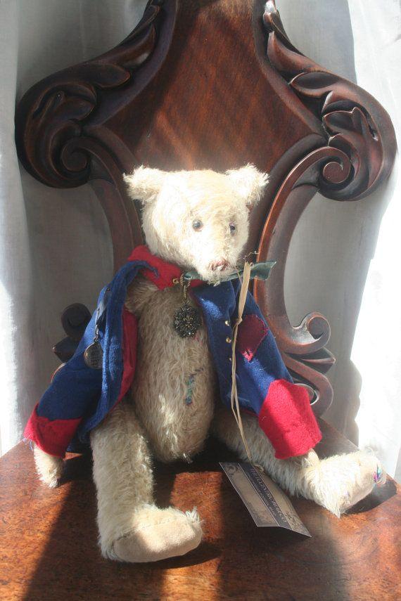 Mohair bear Shabby bear Artist bear Antique by IRISHTREASURE