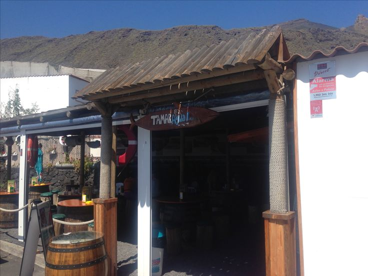 Tamaraja in South la Palma near El Faro Something ui drink after todays dive